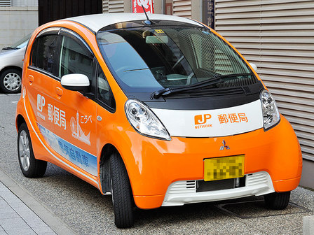 郵便局の電気自動車