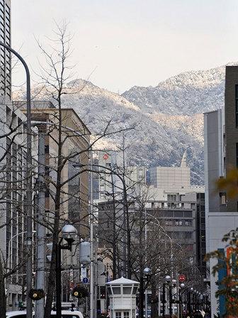 六甲山雪景色