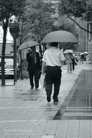 雨の神戸旧居留地