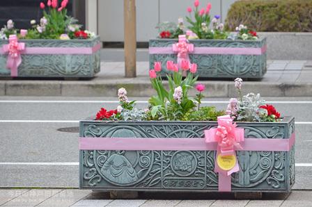 春色ピンクのリボン